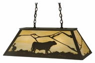 Meyda Tiffany 133345 Steer Scenery Rustic Island Pendant Lighting - 33 Inches Wide