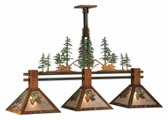 Meyda Tiffany 130714 Rustic 3 Lamp 44 Inch Wide Winter Pine Kitchen Island Light Fixture