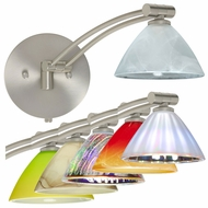 Besa Domi Swing-arm Wall Lamp with Multiple Glass Options