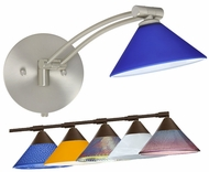 Besa Kona Single Swing-Arm Wall Lamp with Triangular Glass Shade