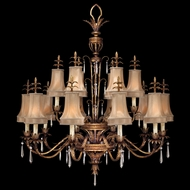 Fine Art Lamps 428040 Pastiche Large 16-light Rustic Crystal Traditional Chandelier Light