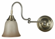 Kenroy Home 21029VB Horton Swing Arm Vintage Brass Finish 11 Inch Tall Wall Lamp