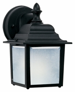 Maxim 86924BK Side Door EE Small 8 Inch Tall Fluorescent Exterior Light Sconce - Black