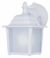 Maxim 86924WT Side Door EE Small White 8 Inch Tall Exterior Wall Sconce Lighting