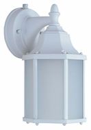 Maxim 86926WT Side Door EE Medium Transitional 10 Inch Tall Outdoor Wall Light - White