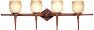 Maxim 11213-WSBH(OSS) Olympia 4 Light Wooden Vanity Fixture (Over-Stock Sale)