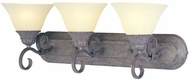 Maxim 8028-SVCR Canyon Rim Traditional 3 Light Vanity Fixture