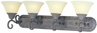 Maxim 8029-SVCR Canyon Rim 4 Light Traditional Vanity Fixture