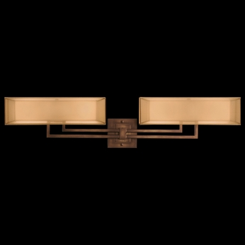 Fine Art Lamps 586450 Quadralli 4-lamp Contemporary Bathroom Light Vanity Fixture in Bourbon Bronze