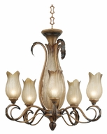 Kenroy Home 91435LAT St. Lucia 5+2-Light Chandelier