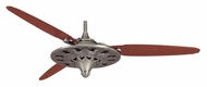 Casablanca 62968 Marrakesh 3 Blade 64 Inch Span Mediterranean Ceiling Fan - Antique Cocoa