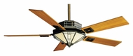 Casablanca 64831 Mission 56 Inch Span Tiffany Style Ceiling Fan Light Fixture - Bronze Patina