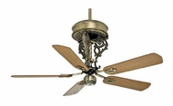 Casablanca 63371 New Orleans Centennial Antique Brass Finish Ornate Pull Chain Ceiling Fan
