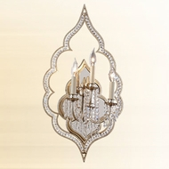 Corbett 16113 Bijou 3-light Large Candelabra Wall Sconce Light