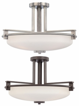 Quoizel TY1721 Taylor Extra Large 21 Inch Diameter Modern Semi Flush Lighting