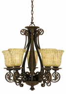 Quoizel LZ5005ML Lorenza Five Light Chandelier