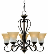 Quoizel DH5005PN Duchess 5 Light Palladian Bronze Chandelier - 24.5 inches wide