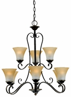 Quoizel DH5009PN Duchess 9 Light Palladian Bronze Chandelier - 30.5 inches wide