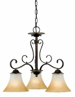 Quoizel DH5103PN Duchess 3 Light Palladian Bronze Chandelier - 23 inches wide