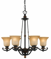 Quoizel GE5006SE Genova Twisted Amber Glass 6-light Chandelier