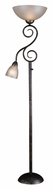 Kenroy Home 32259SMB Treble 72 Inch Tall Torchiere Lamp With Reading Light - Smoked Bronze