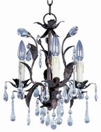 Maxim 8832OI Grove 3 Light 14 inches wide Rustic Crystal Mini Chandelier