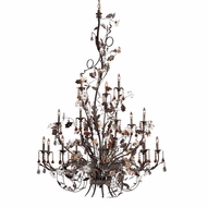 ELK 85004 Cristallo Fiore Rustic 18-Light Chandelier/Foyer Ceiling Light