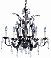 Maxim 8835OI Grove 6 Light 26 inches wide Rustic Crystal Chandelier