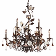 ELK 85003 Cristallo Fiore Rustic 9-Light Chandelier
