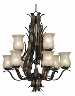 Kenroy Home 91279ALF Bouquet 9-Light Tropical Chandelier
