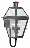 Quoizel RO8414AC Rue De Royal Extra Large 4 Light Exterior Wall Copper Sconce