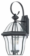 Quoizel SX8411K Sussex 3 Light Lantern Black 11 Inch Diameter Large Exterior Wall Sconce