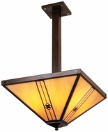 Arroyo Craftsman UCH-16 Utopian Craftsman Pendant Light - 27.125 inch long