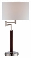 Lite Source LS22009 Solada Dark Walnut Wood 25 Inch Tall Modern Swing Arm Lamp