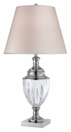 Lite Source LS22126 Sasilvia Transitional Chrome Clear Body Table Lamp Lighting - 31 Inches Tall