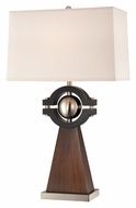 Lite Source LS22189 Petula Modern Orb Accented 30 Inch Tall Wooden Table Lamp