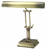 House of Troy P14201AB P14-201-AB 14 inch Square Base Brass Piano Desk Lamp