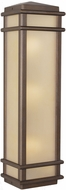 Feiss OL3404-CB Monterrey Coast 3-light 26 inch Outdoor Wall Lamp in Corinthian Bronze