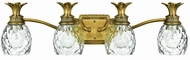 Hinkley 5314BB Plantation Brass Tropical Four Light Bath Light