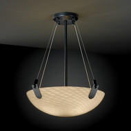 Justice Design FSN9621 U-CLIPS Fusion 18  Round Bowl Pendant Light with Sloped Ceiling Option