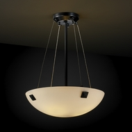 Justice Design FSN9661 Finials Fusion 18  Round Bowl Pendant Light with Finials and Sloped Ceiling Option