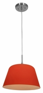 Access 50170-BS/ORG Aire�Orange Glass 11 Inch Diameter Ceiling Pendant Lighting - Brushed Steel