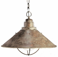 Kichler 2713OB Olde Brick Single Light 16 Inch Pendant