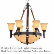 Kalco 4646 Rodeo Drive 6 + 3 Light Chandelier