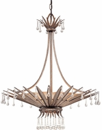 Troy F1337AS St. Barts 1 Light 4 Bulb Rustic Chic Silver and Amber Pendant Ceiling Lighting Fixture