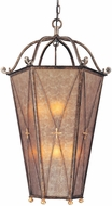 Troy F1002BLF Cheshire 30 inchesW x 54.25 inchesH Bronze and Cognac Mist Rectangular Pendant Ceiling Lighting Fixture