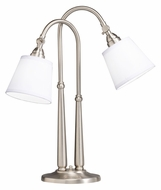 Kichler 70228NIW Blaine Transitional 2 Lamp 25 Inch Tall Table Lamp