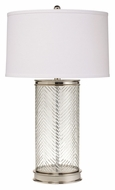 Kichler 70869 Herringbone 28 Inch Tall Glass Table Lamp