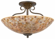 Quoizel MY1718ML Monterey Mosaic Small Semi-Flush Ceiling Light