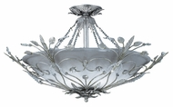 Crystorama 4707-SL Floral 25 inch semi-flush mount in silver leaf finish